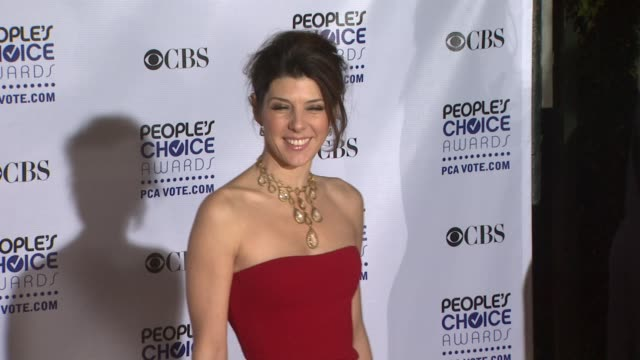 marisa tomei at the 35th annual people's choice awards at los angeles ca - marisa tomei stock videos & royalty-free footage