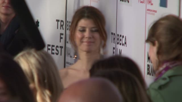 """marisa tomei at the 7th annual tribeca film festival - """"war, inc"""" premiere at the borough of manhattan community college / tribeca performing arts in... - marisa tomei stock videos & royalty-free footage"""