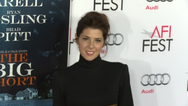 """marisa tomei at """"the big short"""" world premiere closing night gala screening - afi fest 2015 at tcl chinese theatre on november 12, 2015 in hollywood,... - marisa tomei stock videos & royalty-free footage"""