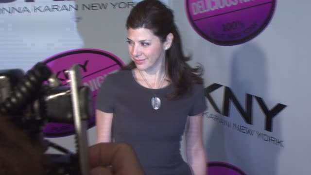 marisa tomei at the dkny delicious night fragrance launch party at 711 greenwich street in new york, new york on november 7, 2007. - marisa tomei stock videos & royalty-free footage