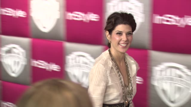 marisa tomei at the instyle 2009 golden globes after party part 4 at los angeles ca. - marisa tomei stock videos & royalty-free footage
