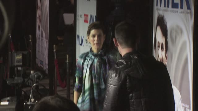 marisa tomei at the milk premiere at los angeles ca. - marisa tomei stock videos & royalty-free footage
