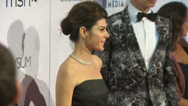 marisa tomei at the the art of elysium's 3rd annual black tie charity gala 'heaven' at beverly hills ca. - marisa tomei stock videos & royalty-free footage