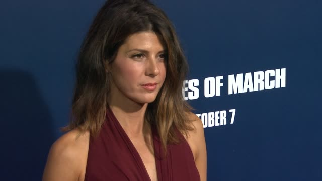 marisa tomei at the 'the ides of march' los angeles premiere at beverly hills ca - marisa tomei stock videos & royalty-free footage