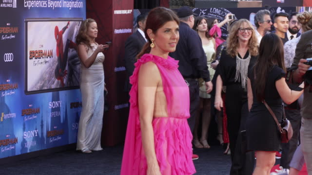 marisa tomei at the world premiere of spiderman far from home on june 26 2019 in hollywood california - red carpet event stock videos & royalty-free footage