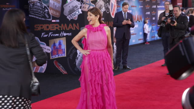 """marisa tomei at the world premiere of """"spider-man: far from home"""" on june 26, 2019 in hollywood, california. - marisa tomei stock videos & royalty-free footage"""
