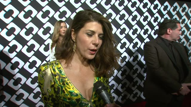 interview marisa tomei on her dress being a part of the night and what she appreciates about diane von furstenberg what makes the wrap dress so... - wrap dress stock videos and b-roll footage