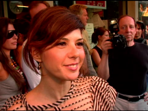 marisa tomei on wearing a cool shirt, her role in the film and how she got involved in the project at the 'factotum' new york premiere hosted by the... - marisa tomei stock videos & royalty-free footage
