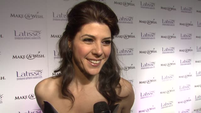 marisa tomei on working with matthew rolston at the launch party for latisse at los angeles ca. - marisa tomei stock videos & royalty-free footage