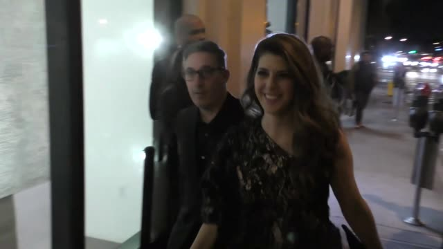 marisa tomei outside catch la in west hollywood at celebrity sightings in los angeles on january 06 2017 in los angeles california - marisa tomei stock videos & royalty-free footage
