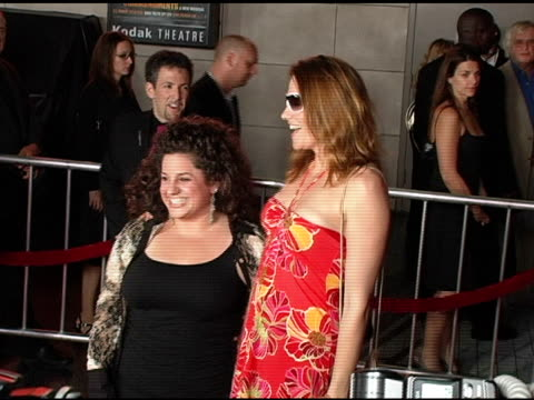 Marissa Jaret Winokur and Lucy Lawless at the Opening Night of 'The Ten Commandments' at the Kodak Theatre in Hollywood California on September 27...