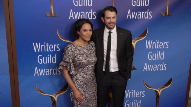 marissa jo cerar at the 2020 writers guild awards at the beverly hilton hotel on february 01 2020 in beverly hills california - the beverly hilton hotel stock videos & royalty-free footage