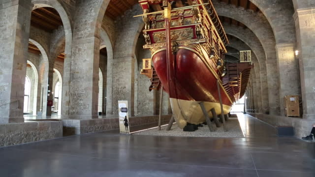 Maritime museum, old Royal shipyards, Drassanes Reals, Barcelona, Spain.