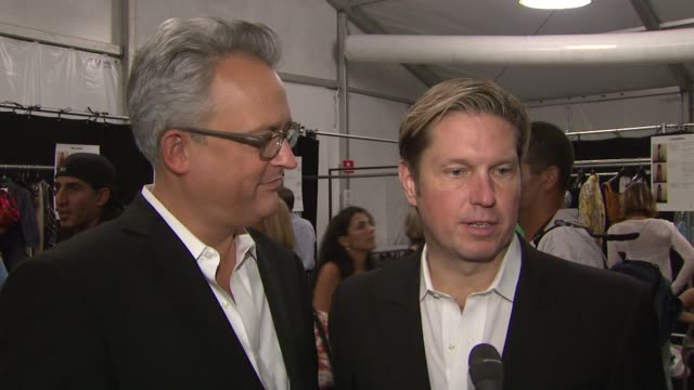 mark badgley and james mischka on the ny fashion show their presentation the actual inspiration for the show the fashion industry changing and... - fashion industry stock videos & royalty-free footage