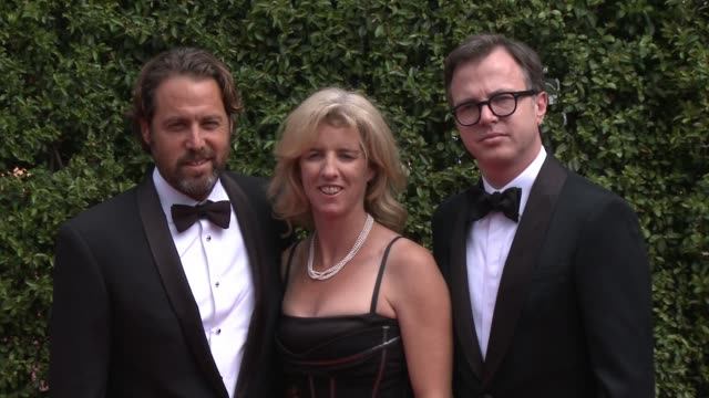 mark bailey rory kennedy and keven mcalester at the 2015 creative arts emmy awards at microsoft theater on september 12 2015 in los angeles california - emmy awards stock-videos und b-roll-filmmaterial