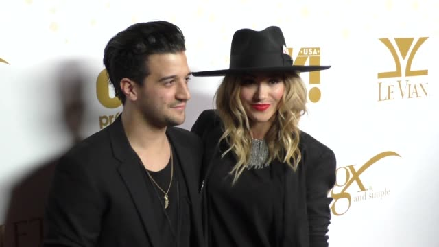 Mark Ballas BC Jean at the OK Magazine's PreOscar Party In Support Of Global Gift Foundation at BESO Restaurant in Hollywood on February 25 2016