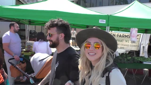 INTERVIEW Mark Ballas BC Jean talk about their new music and if he has any bad blood with Dancing With The Stars while shopping at Farmer's Market in...
