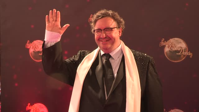 mark benton at strictly come dancing at elstree studios on september 03 2013 in borehamwood england - ハートフォードシャー点の映像素材/bロール
