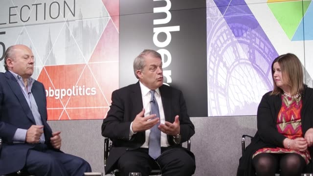 mark boleat chairman of the policy and resources committee at the city of london corporation speaks during a bloomberg television uk general election... - leitende person stock-videos und b-roll-filmmaterial