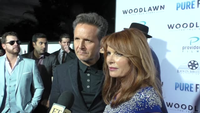 Mark Burnett and Roma Downey at the Woodlawn Premiere at Bruin Theatre on October 05 2015 in Los Angeles California