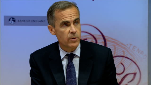 Mark Carney delivers Bank of England inflation report ENGLAND London INT Bank of England monetary committee including Mark Carney and Ben Broadbent...