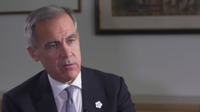 mark carney saying boris johnson's brexit deal is materially better than no deal - northeast stock videos & royalty-free footage