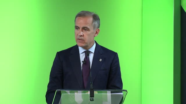 mark carney saying data since may has given him confidence that the softness in the first quarter of the year was because of the bad weather - quarter stock-videos und b-roll-filmmaterial