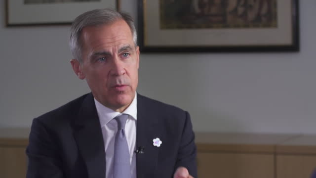 mark carney saying he doesn't know what the negotiation terms are or were with the eu in boris johnson's and theresa may's brexit deals - northeast stock videos & royalty-free footage