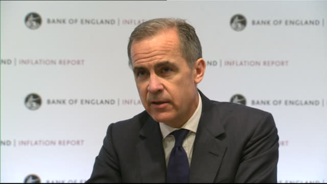 Mark Carney saying it will be necessary to raise interest rates 'to a limited degree' to control inflation