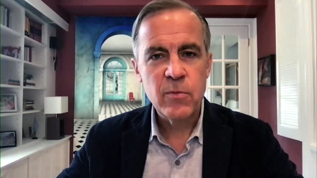 """mark carney saying the cost of emitting greenhouse gases will """"become more internalised"""" - information medium stock videos & royalty-free footage"""