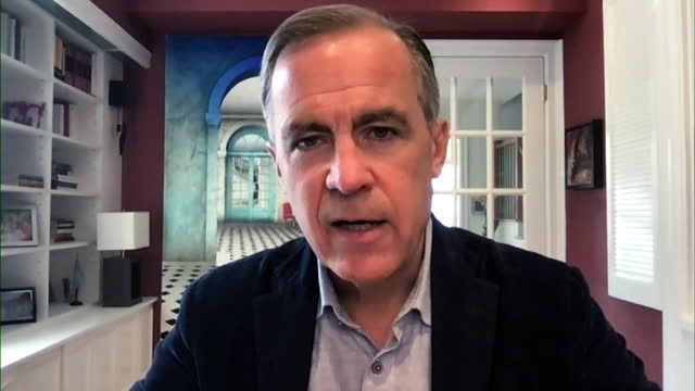 mark carney saying the financial sector committed $70 trillion to reaching net zero carbon emissions - investment stock videos & royalty-free footage