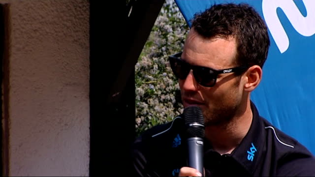 mark cavendish interview at skyride in regent's park england london regent's park ext mark cavendish introduced by dermot murnaghan and along onto... - dermot murnaghan stock-videos und b-roll-filmmaterial