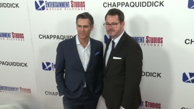 mark ciardi and campbell mcinnes at the chappaquiddick premiere at samuel goldwyn theater on march 28 2018 in beverly hills california - samuel goldwyn theater stock videos & royalty-free footage