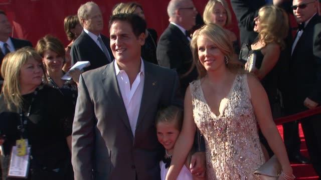 mark cuban and family at the 2011 espy awards at los angeles ca. - espy awards stock videos & royalty-free footage