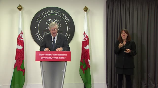 mark drakeford advising people in wales to stay working from home as coronavirus restrictions were eased by boris johnson - teleworking stock videos & royalty-free footage