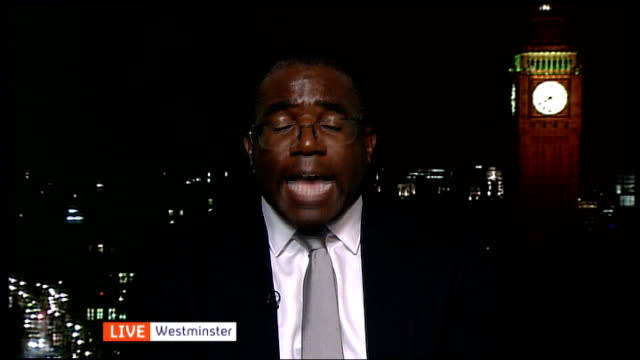 vídeos de stock, filmes e b-roll de jury deliver lawful killing verdict england london tottenham david lammy mp 2 way interview from westminster and dominic raab mp 2 way interview from... - channel 4 news