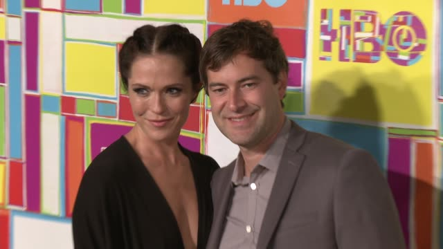 vídeos y material grabado en eventos de stock de mark duplass and katie aselton at hbo's official 2014 emmy after party at the plaza at the pacific design center on august 25 2014 in los angeles... - premios emmy