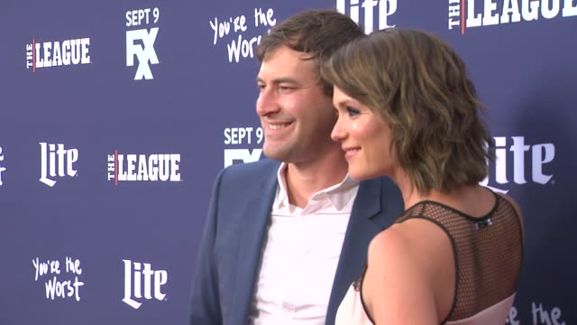 Mark Duplass and Katie Aselton at the Premiere of FXX's The League Final Season and You're The Worst 2nd Season at Regency Bruin Theater on September...