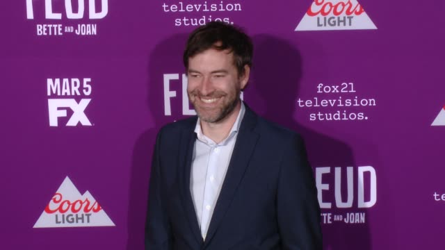 """mark duplass at premiere of fx network's """"feud: bette and joan"""" in los angeles, ca 3/1/17 - fx network stock videos & royalty-free footage"""
