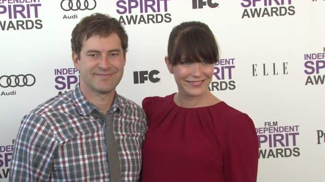 mark duplass, katie aselton at the 2012 film independent spirit awards - arrivals on 2/25/12 in santa monica, ca. - independent feature project stock videos & royalty-free footage