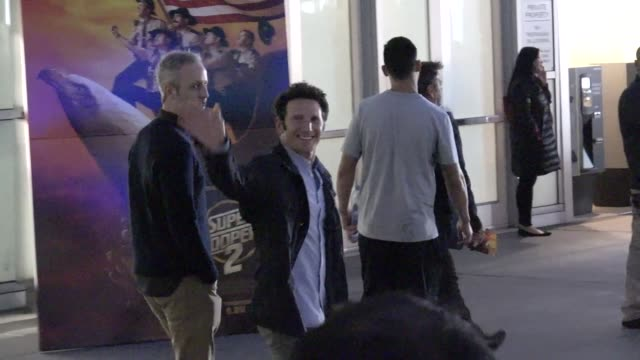 mark feuerstein leaves the super troopers 2 premiere at arclight cinemas in hollywood in celebrity sightings in los angeles - super troopers 2 stock videos & royalty-free footage