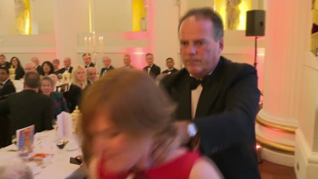stockvideo's en b-roll-footage met mark field suspended as minister after video shows him grabbing protester england london mansion house city of london and westminster grabbing janet... - itv lunchtime news