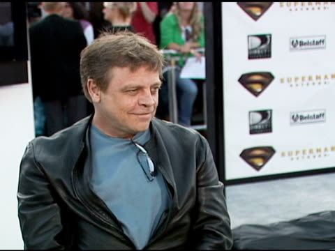 mark hamill at the 'superman returns' premiere at the mann village theatre in westwood california on june 21 2006 - regency village theater stock videos & royalty-free footage