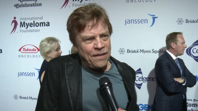 mark hamill on the event and voting at international myeloma foundation's 10th annual comedy celebration benefiting the peter boyle research fund &... - peter boyle stock videos & royalty-free footage