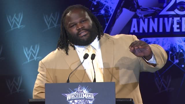 Mark Henry on being unshakeable at the WrestleMania 25th Anniversary Press Conference at New York NY