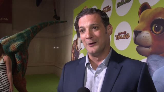 mark horneff, ceo, kuato studios on the event at the museum. on the two games 'dino tales' and 'safari tales' being launched this evening. on how... - educational event stock videos & royalty-free footage