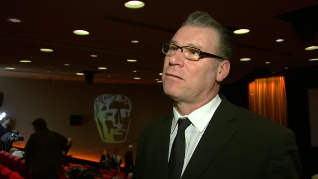 mark kermode on his reaction, on these nominations compared to the golden globes, on british films, on who will win at the orange bafta nominations... - マーク カルモード点の映像素材/bロール