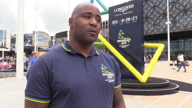 mark lewis-francis discusses team gb's athletics prospects in tokyo ahead of the athletics starting on friday. the birmingham-born athlete was... - commonwealth games stock videos & royalty-free footage