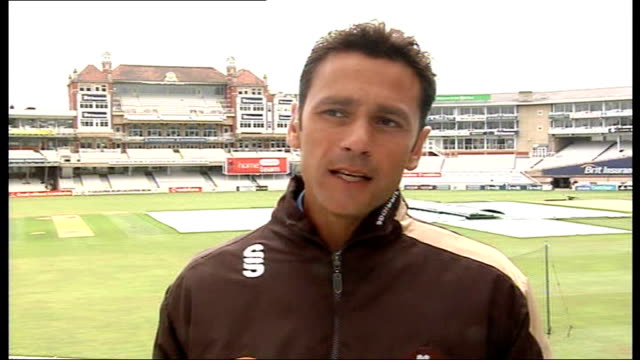 mark ramprakash interview; mark ramprakash interview continued sot - possibility of cricket in the olympic games/ future goals, career at surrey/... - cricket tor stock-videos und b-roll-filmmaterial