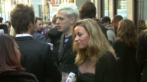 mark ronson and charlotte church at the q awards at london england. - charlotte church stock videos & royalty-free footage